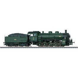Güterzug-Dampflok G 5/5 Bayer