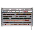 Glaskasten: Verlichte modeltreinvitrine 8 lagen / 120 cm