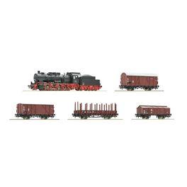 BR 57 + 4 goederenwagens, DB, DCC