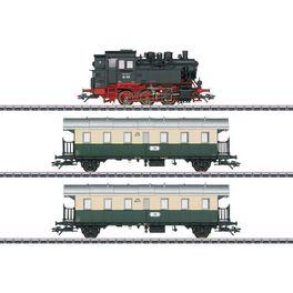 Exclusief: VSM BR 80 036, 2 personenrijtuigen